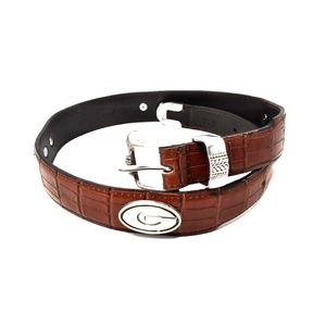Georgia Bulldog Leather Belt